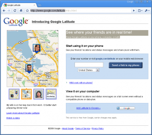 Google Latitude in Google Chrome
